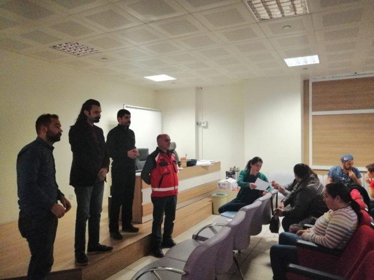 """Kars'ta """"Hastane Afet Planı"""" Eğitimi"""
