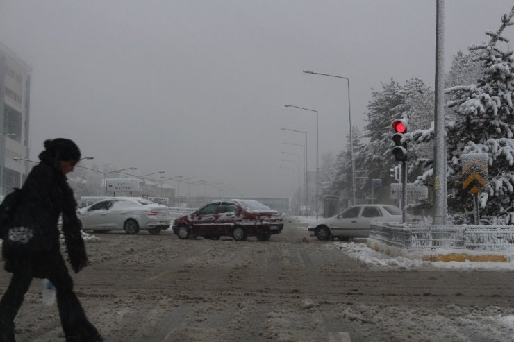 Erzurum'da Kar Hayatı Felç Etti