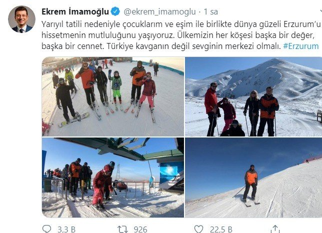 Ekrem İmamaoğlu Palandöken'de