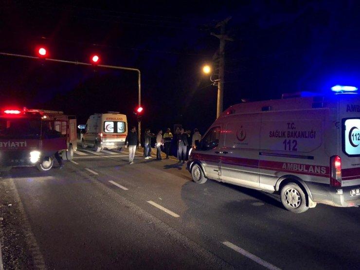 Kars'ta Otomobil Şarampole Uçtu: 2 Yaralı