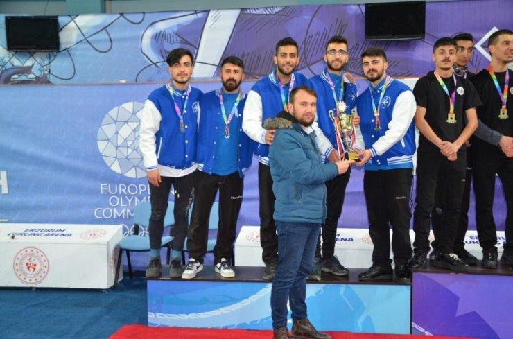 Erzurum'da 'Curling Unilig' Şampiyonası