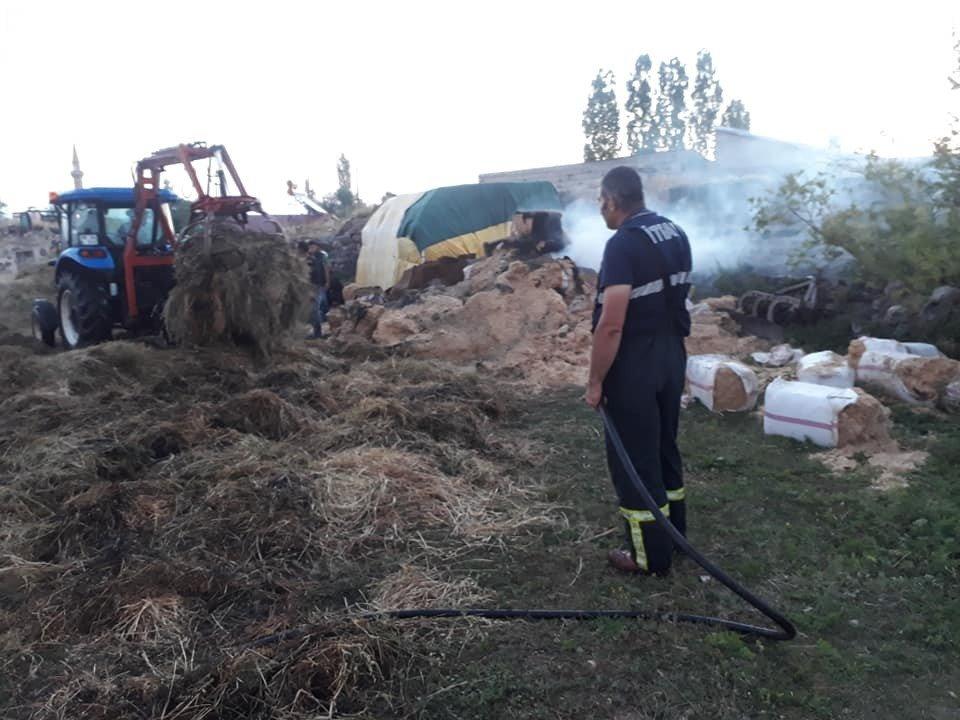 Kars'ın Soylu Köyünde Ot Yangını