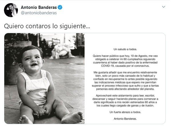 Antonio Banderas Covid-19'a Yakalandı