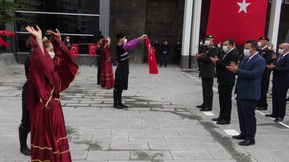Atatürk'ün Kars'a Gelişinin 96. Yılında Törenle Kutlandı