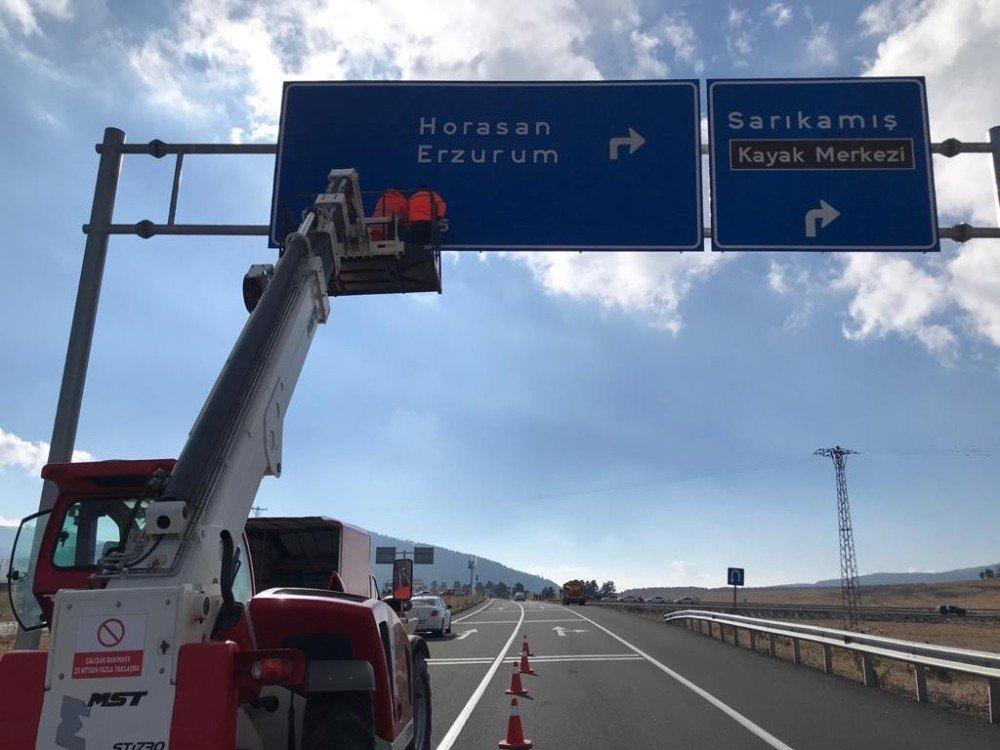 Karakurt Horasan Yolu Trafiğe Açıldı