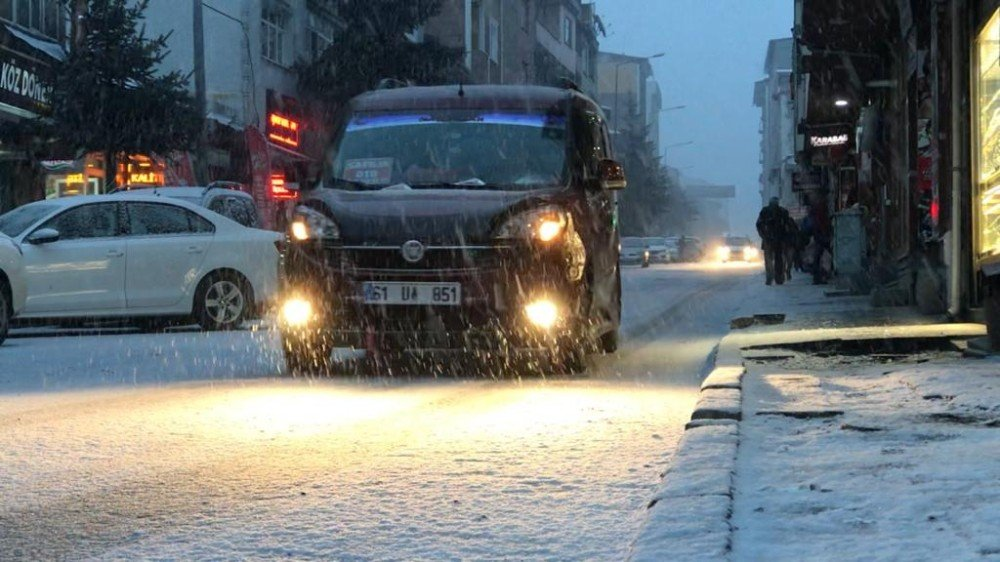 Sarıkamış'ta Kar Yağışı Başladı