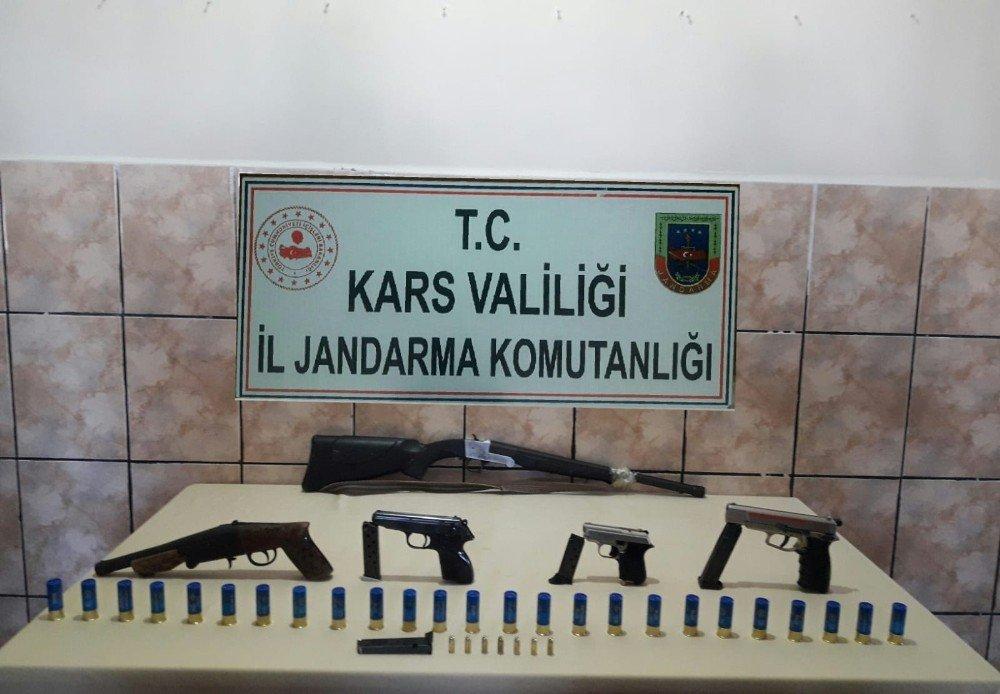 Akyaka'da Ruhsatsız Silah Operasyonu