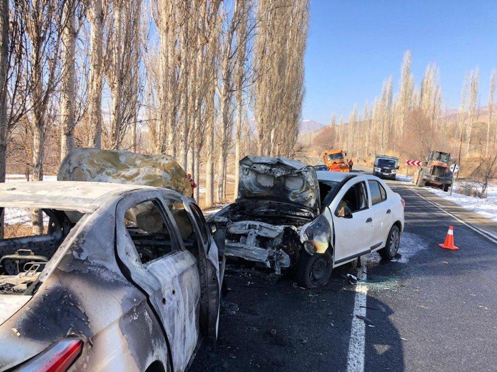 Kağızman'da Trafik Kazası: 4 Yaralı