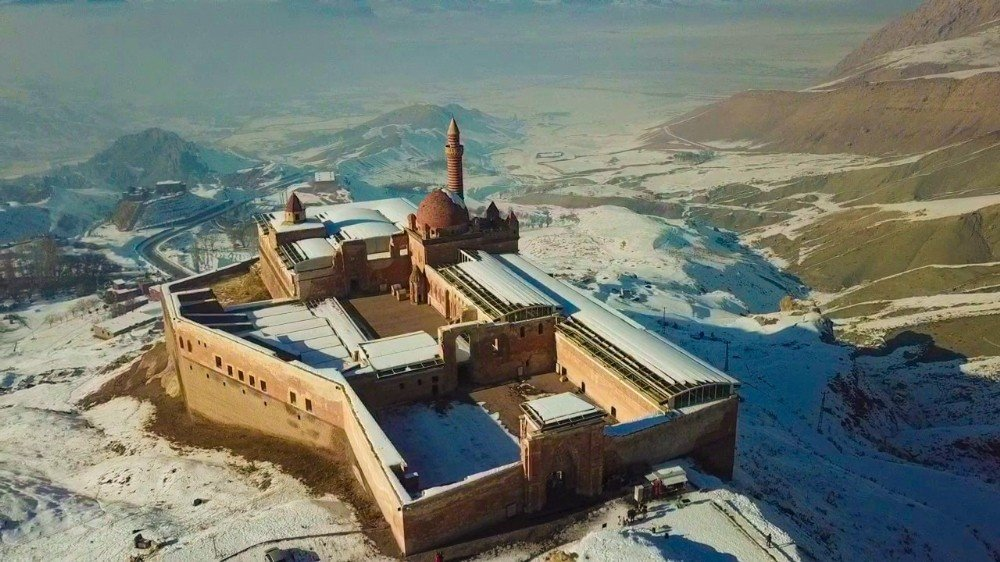 Tarihi 'İshak Paşa Sarayı' Havadan Görüntülendi