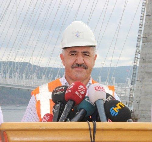 """Arslan: """"Ağır Vasıtalar 26 Ağustos'tan İtibaren 3. Köprüyü Kullanacak"""""""