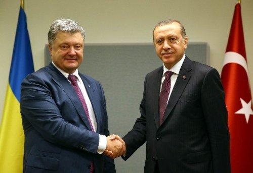 Erdoğan, Ukrayna Cumhurbaşkanı Poroşenko İle Bir Araya Geldi