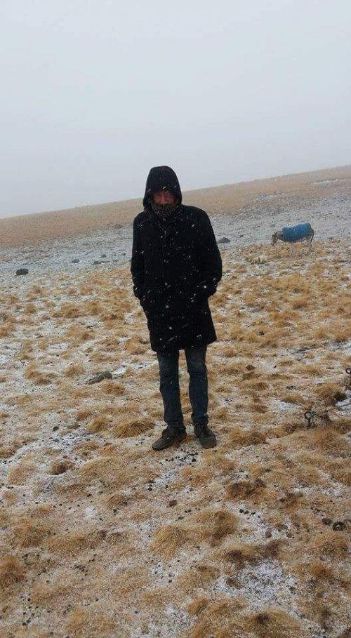 Erzurum'un Yüksek Kesimlerine Kar Yağdı