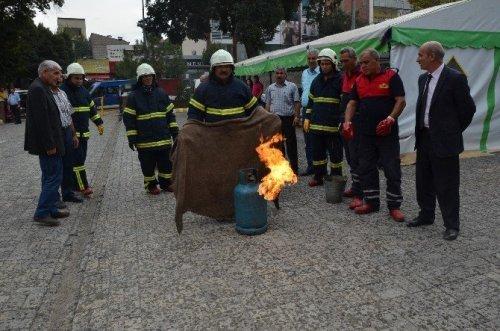 Iğdır'da Yangın Tatbikatı