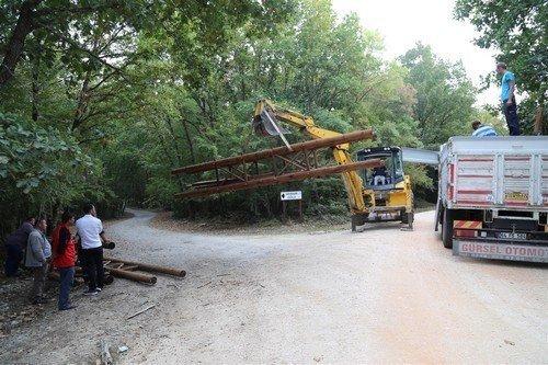 İğneada Longoz Ormanları Milli Parkı'na Giriş Takları Yapıldı