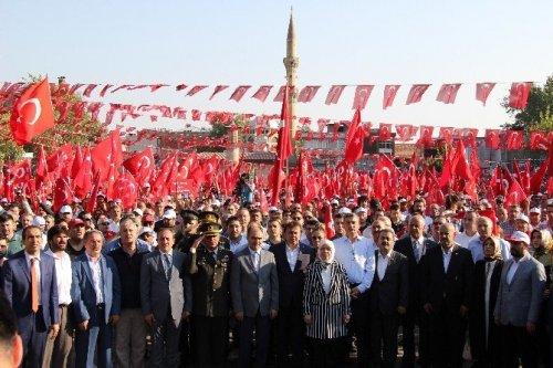 Kahramanmaraş'ta Demokrasi Ve Şehitler Mitingi
