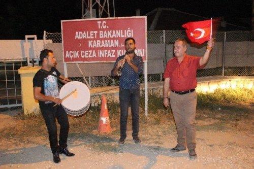 Karaman'da Davullu Zurnalı Tahliye Sevinci