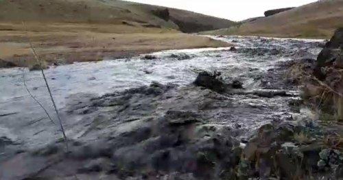 Kars'ta Dolu ve Yağmur Sele Neden Oldu