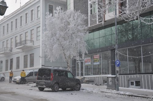 Kars'ta Soğuktan Her Yer Dondu