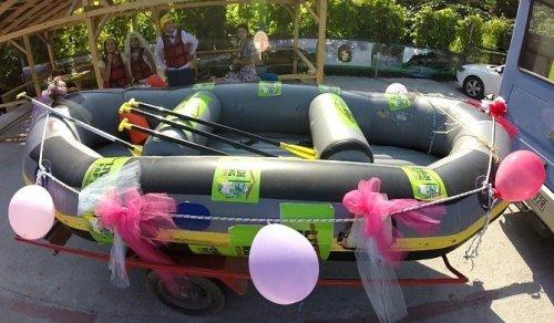 Raftingciler Rafting Botunda Nikah Kıydılar