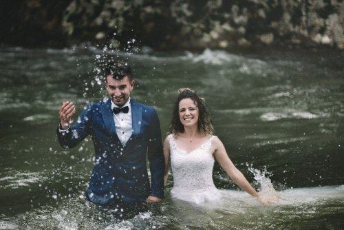 Rize'de Dereler Düğün Fotoğrafı Çektirmek İsteyenlerin Uğrak Yeri Oldu