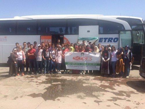Sarıkamışlı Öğrenciler Çanakkale'ye Uğurlandı
