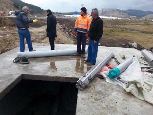 Sarıkamış'ta İçme Suyu Çalışmaları Sürüyor